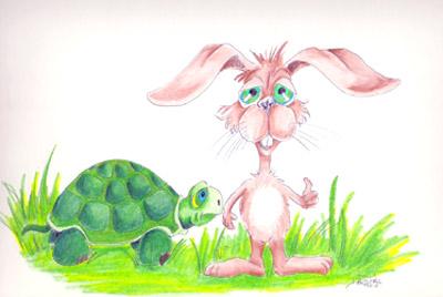 خرگوش و لاک پشت
